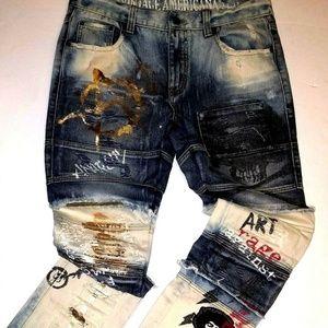 Vintage Americana Distressed Jeans | 34 x 32